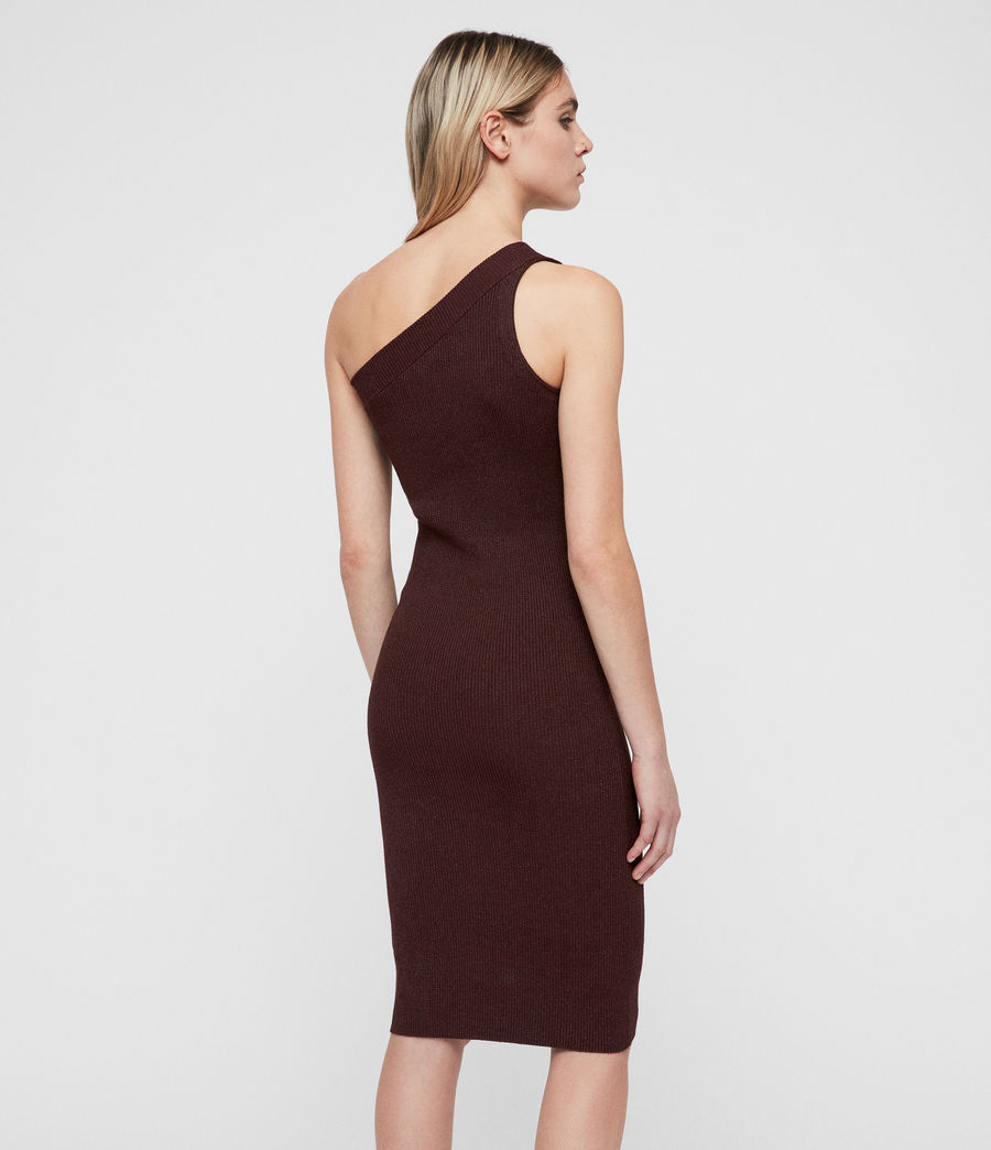 Femmes Robe Chelle (bordeaux_red_twist) - Image 4