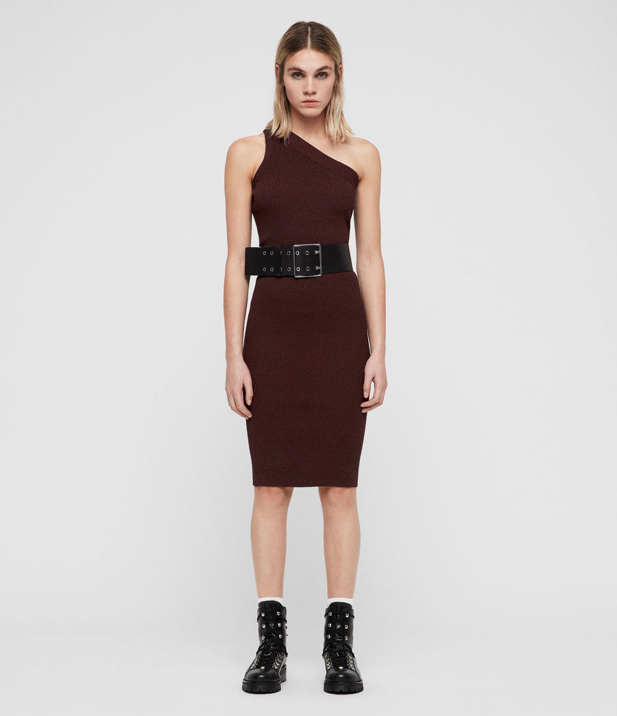 Femmes Robe Chelle (bordeaux_red_twist) - Image 5