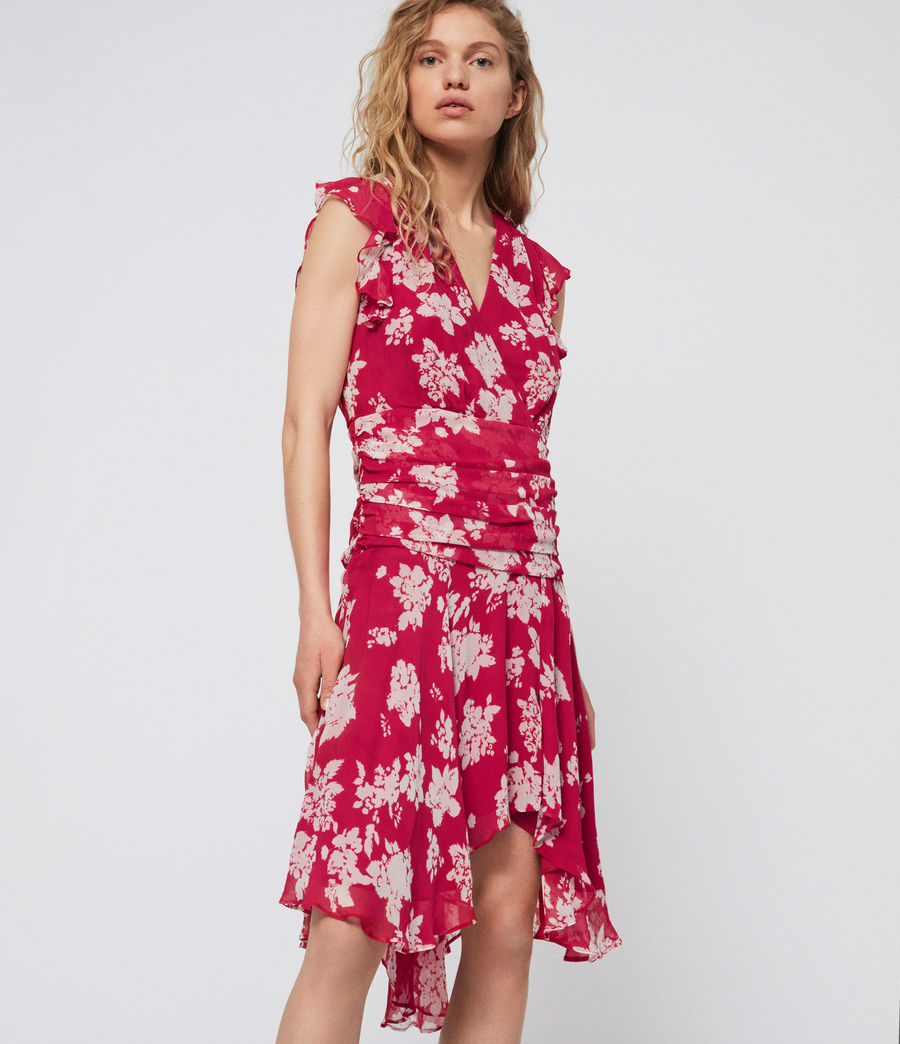Damen Caris Lea Kleid (hot_pink) - Image 1