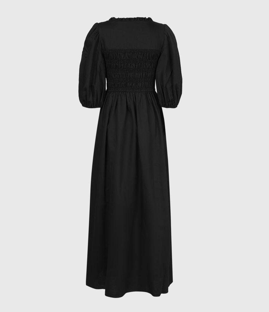 Damen Livi Leinen Kleid (black) - Image 3
