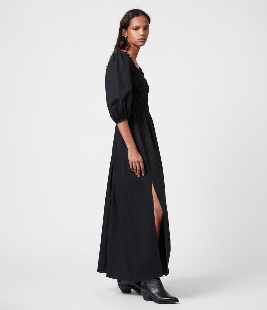 Damen Livi Leinen Kleid (black) - Image 4
