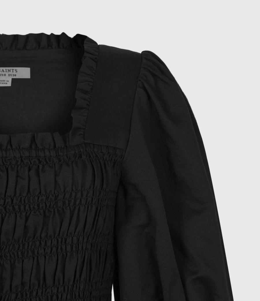 Damen Livi Leinen Kleid (black) - Image 5