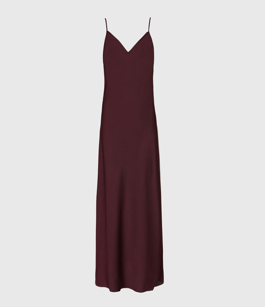 Womens Karla 2-In-1 Slip Dress (bordeaux_red) - Image 2