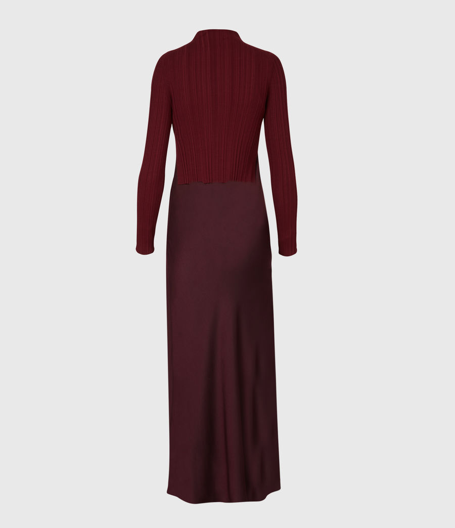 Womens Karla 2-In-1 Slip Dress (bordeaux_red) - Image 3