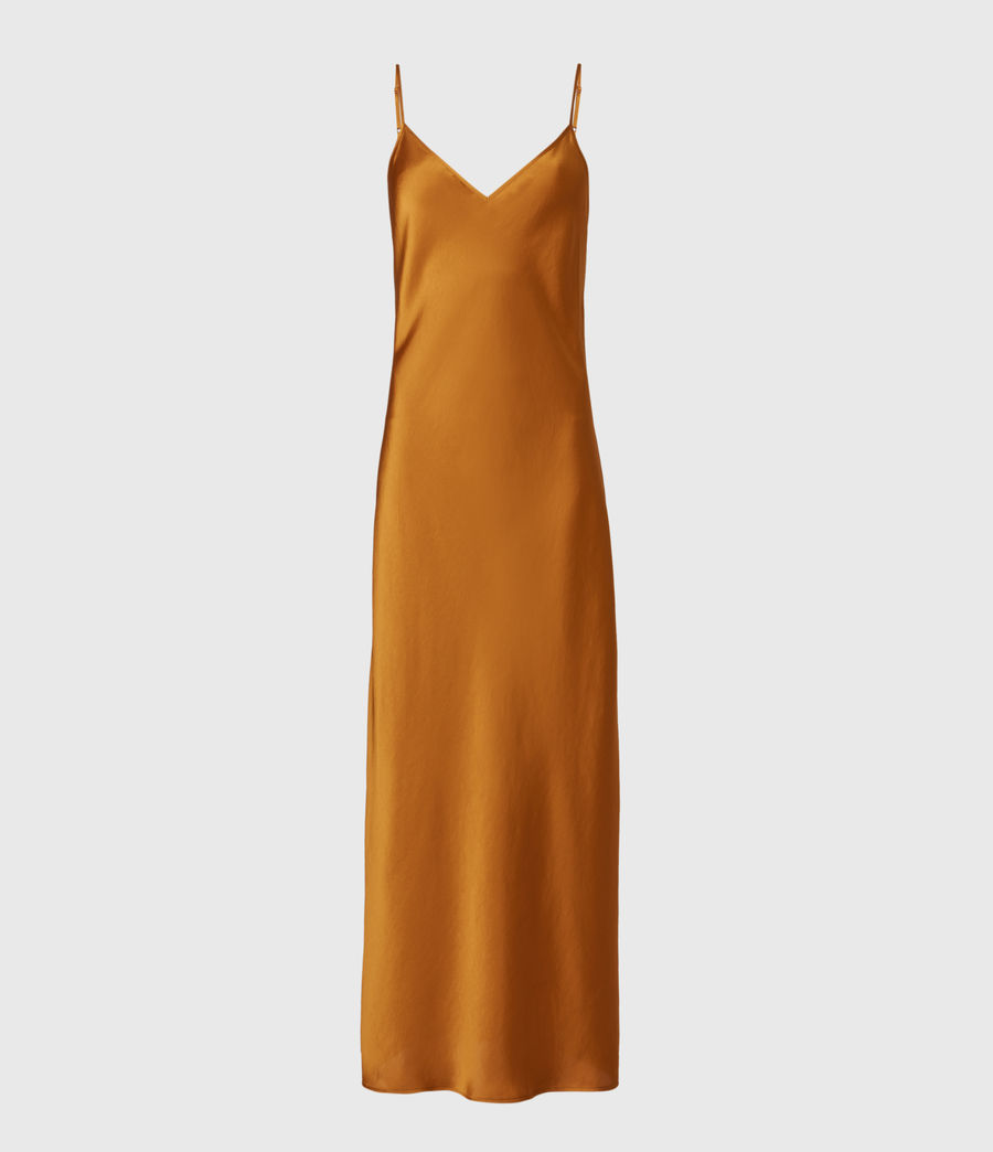 Womens Karla 2-In-1 Slip Dress (gold) - Image 3