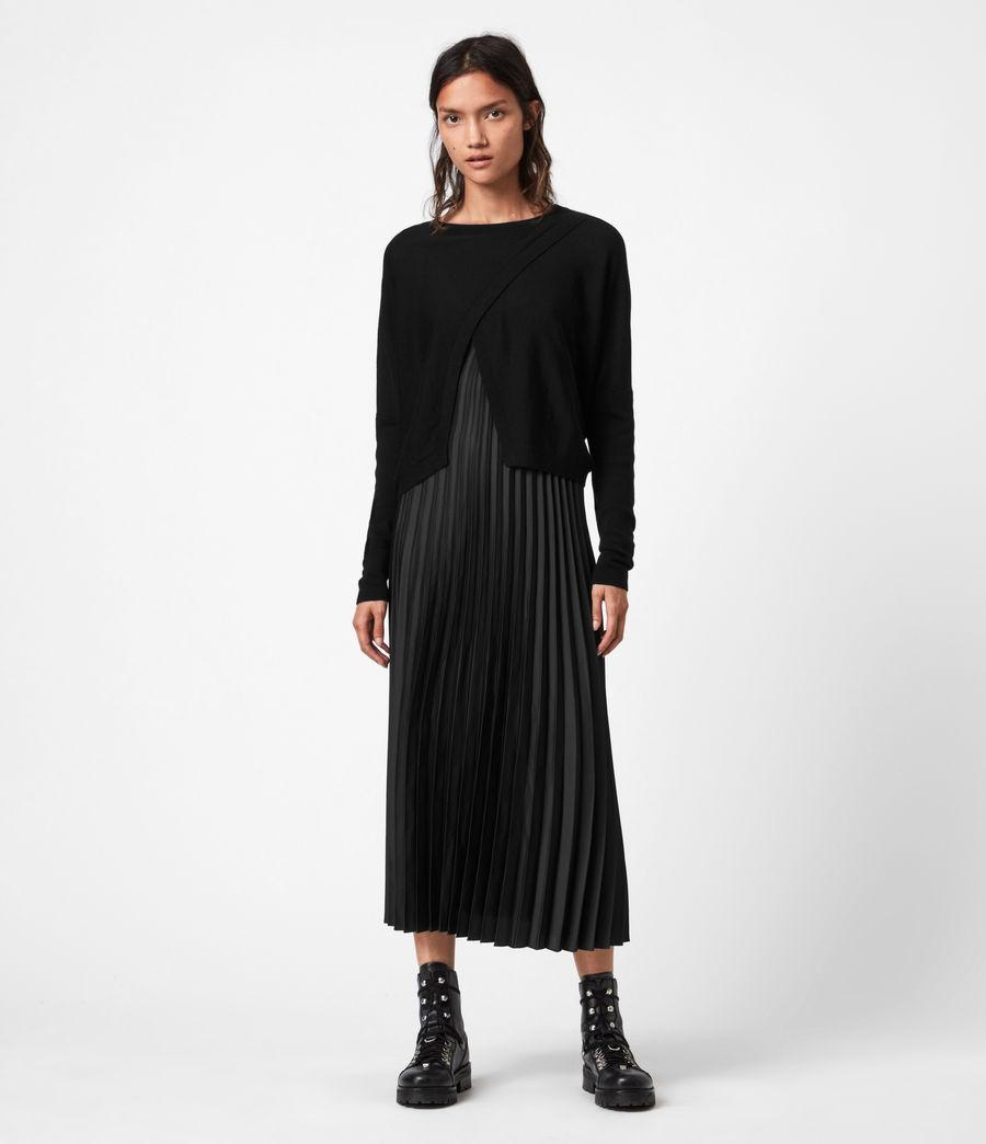 Women's Lori 2-In-1 Dress (black) - Image 1