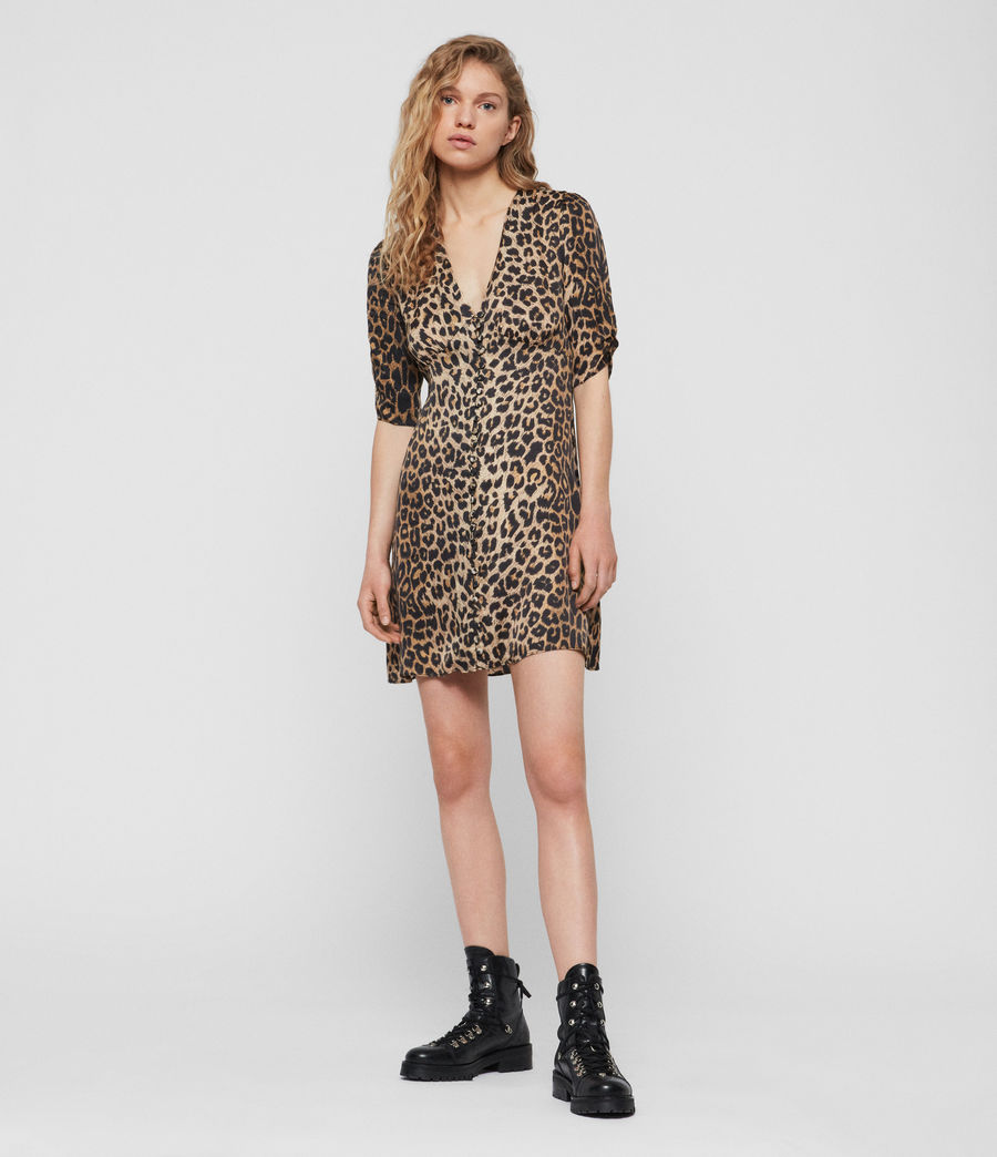 Womens Kota Leppo Dress (leopard) - Image 2