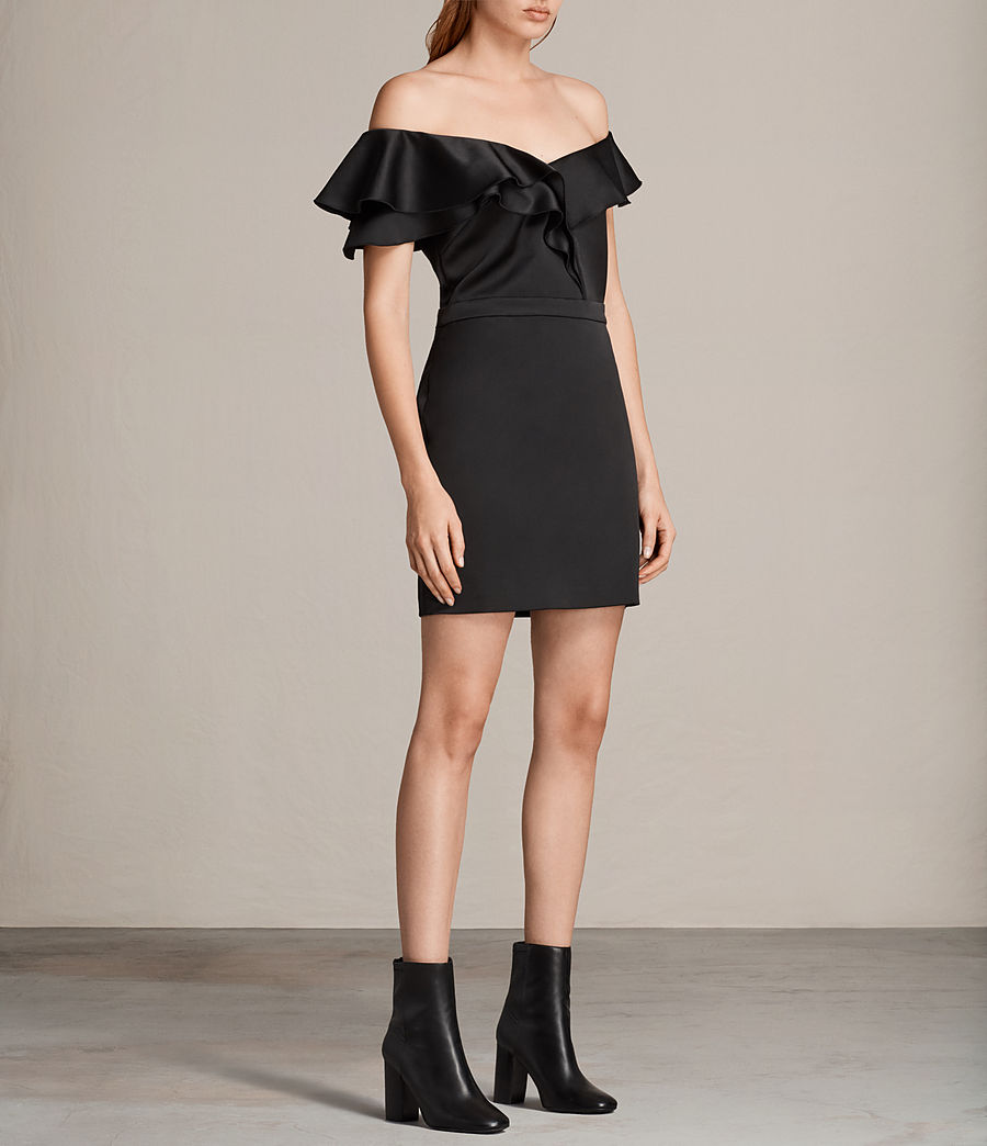 Women's Alessia Dress (black) - Image 3
