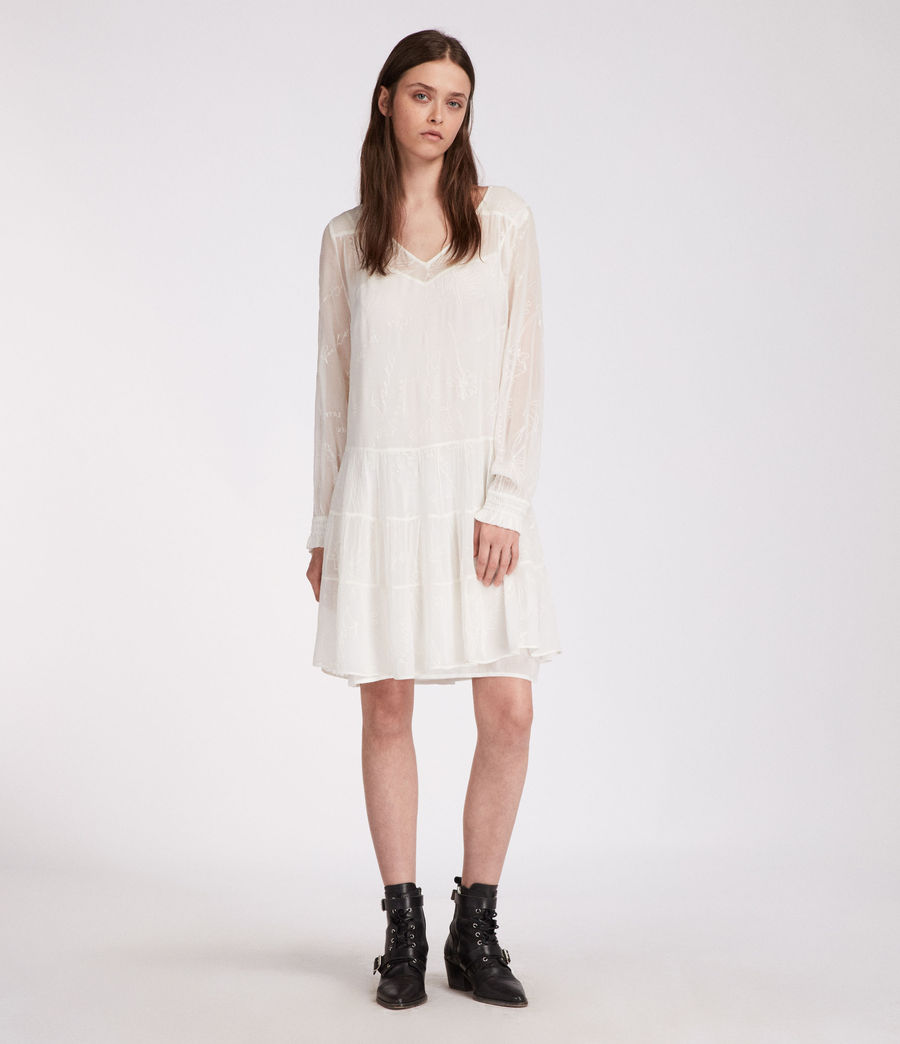 Womens Abelie Verity Dress (chalk_white) - Image 1