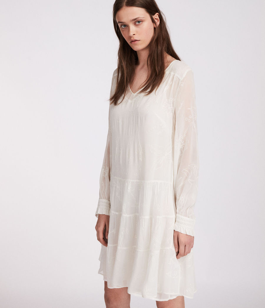 Womens Abelie Verity Dress (chalk_white) - Image 2