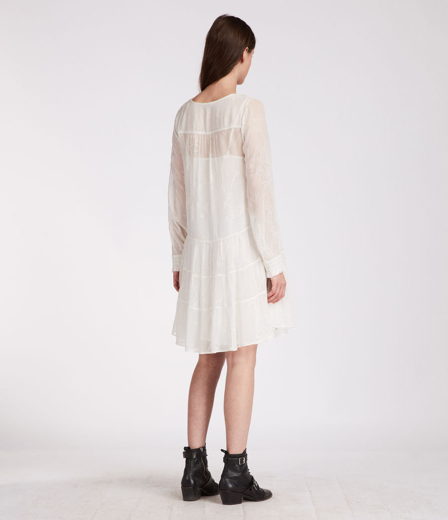 Women's Abelie Verity Dress (chalk_white) - Image 5