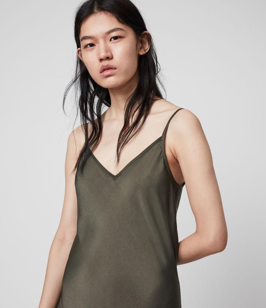 Womens Tierney Slip Dress (khaki_green) - Image 2
