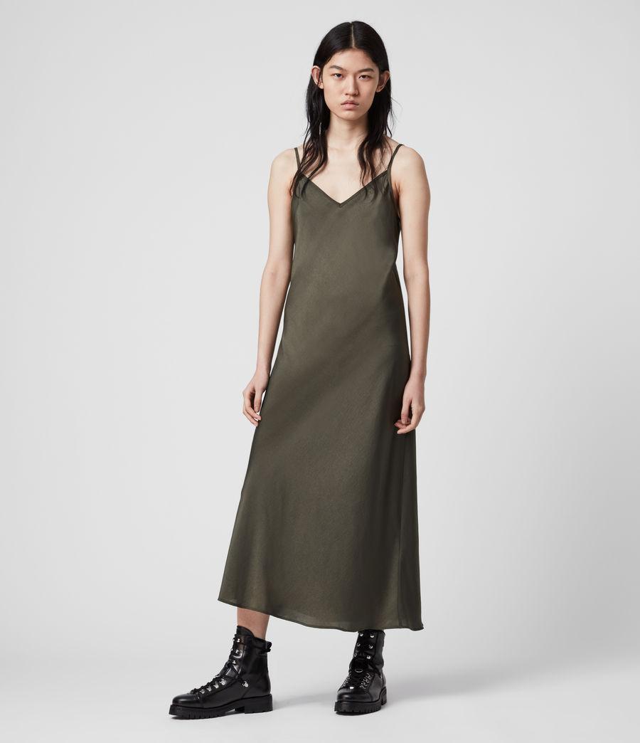 Womens Tierney Slip Dress (khaki_green) - Image 3