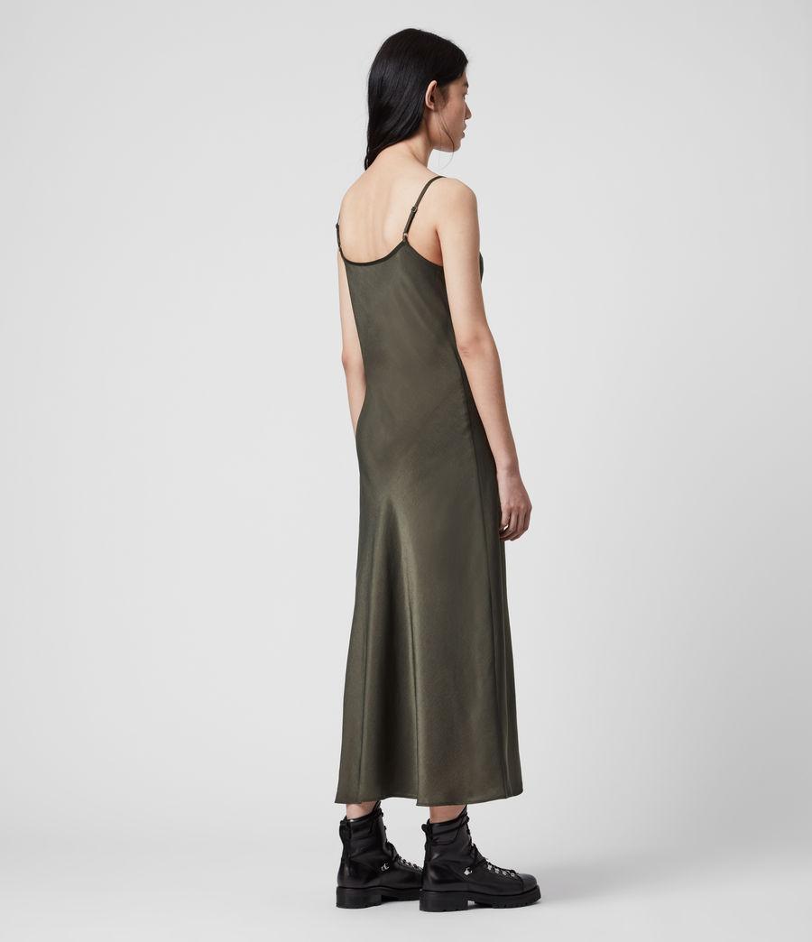 Mujer Vestido Lencero Tierney (khaki_green) - Image 5