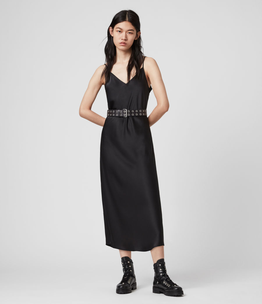 Womens Tierney Slip Dress (black) - Image 1