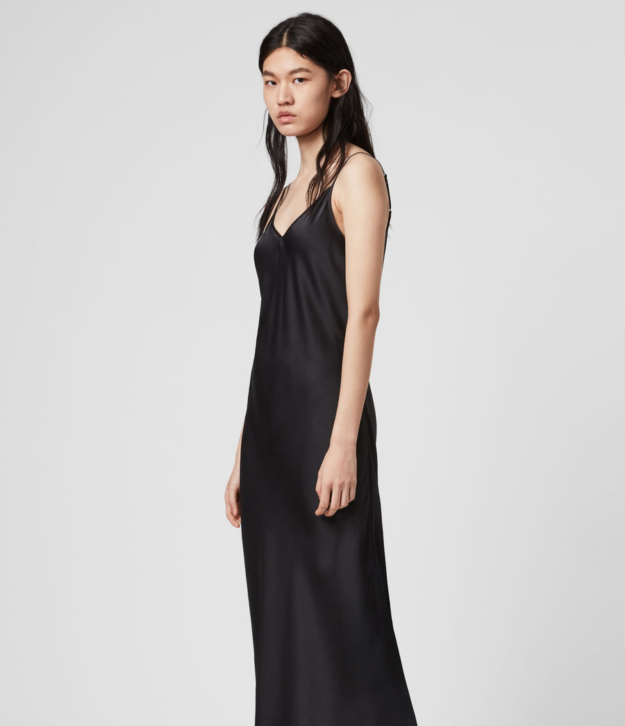 Womens Tierney Slip Dress (black) - Image 3