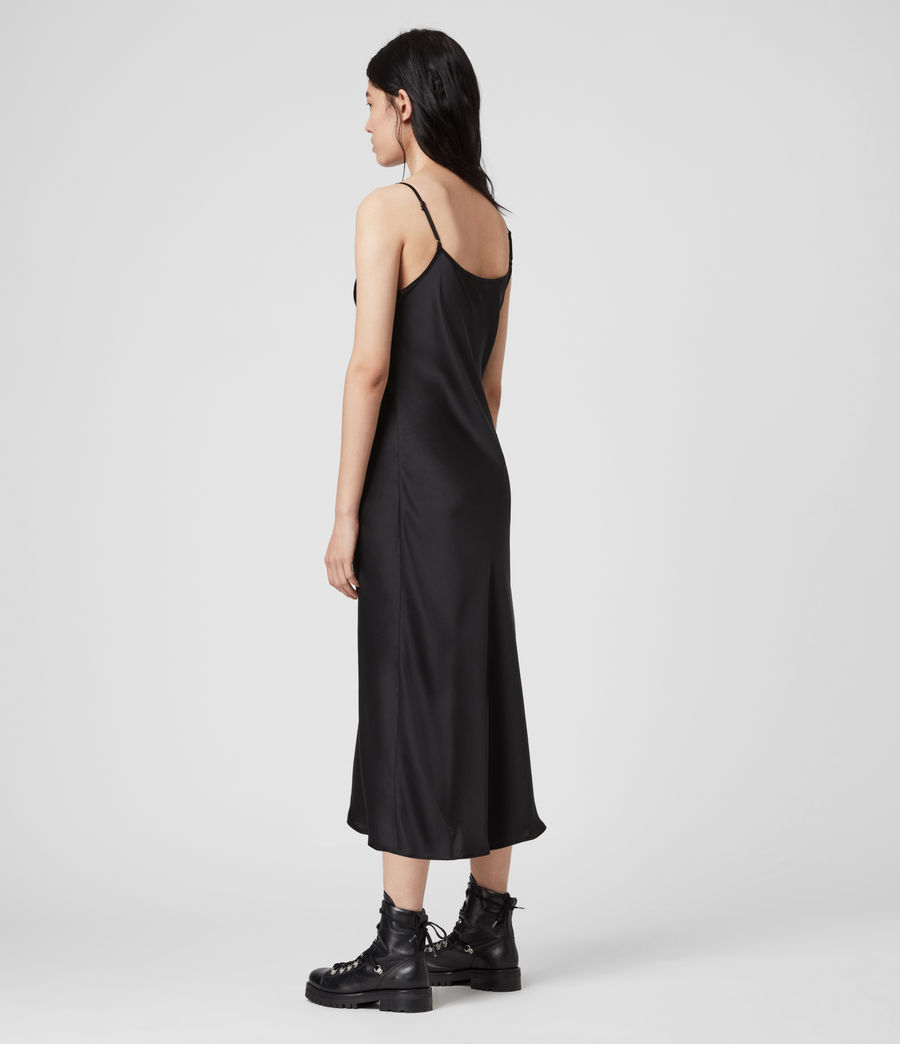Womens Tierney Slip Dress (black) - Image 4