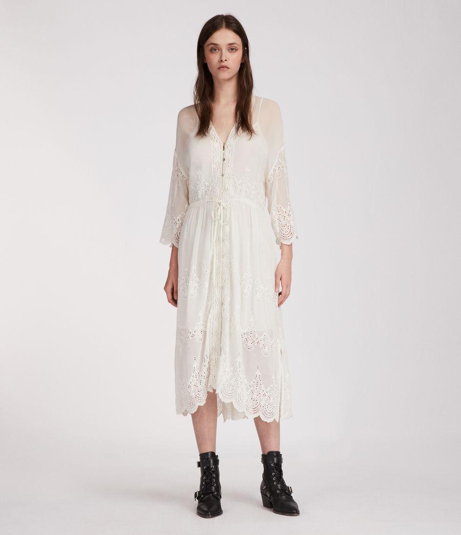 Mujer Vestido Aileen Zinnia (chalk_white) - Image 1