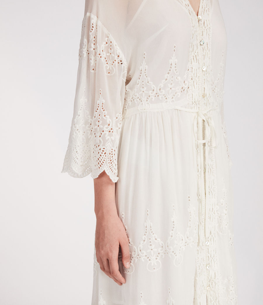 Mujer Vestido Aileen Zinnia (chalk_white) - Image 2