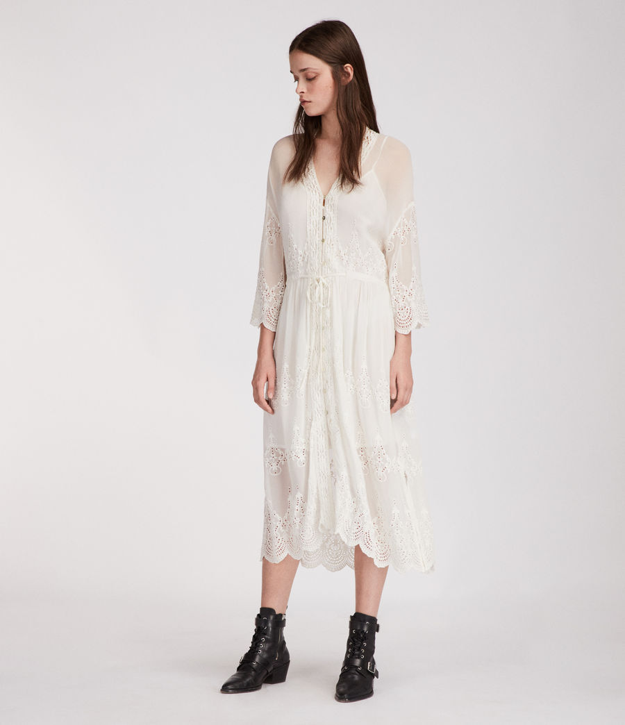 Mujer Vestido Aileen Zinnia (chalk_white) - Image 3