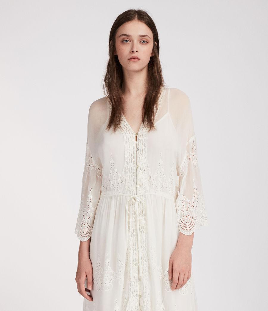 Mujer Vestido Aileen Zinnia (chalk_white) - Image 4