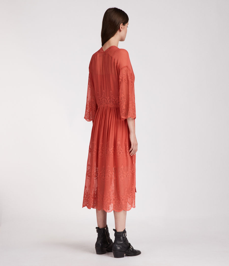 Women's Aileen Zinnia Dress (coral_red) - Image 4