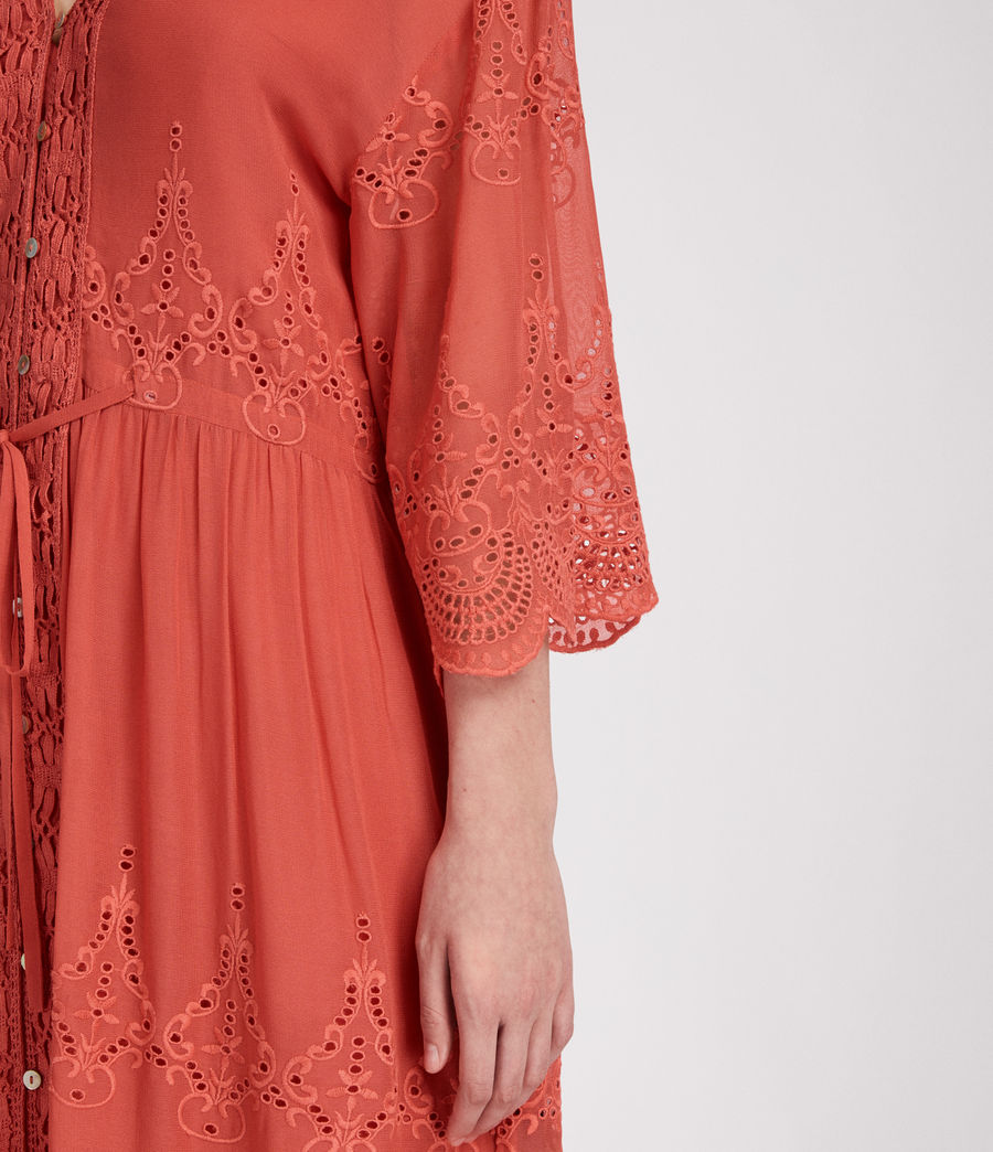 Women's Aileen Zinnia Dress (coral_red) - Image 5