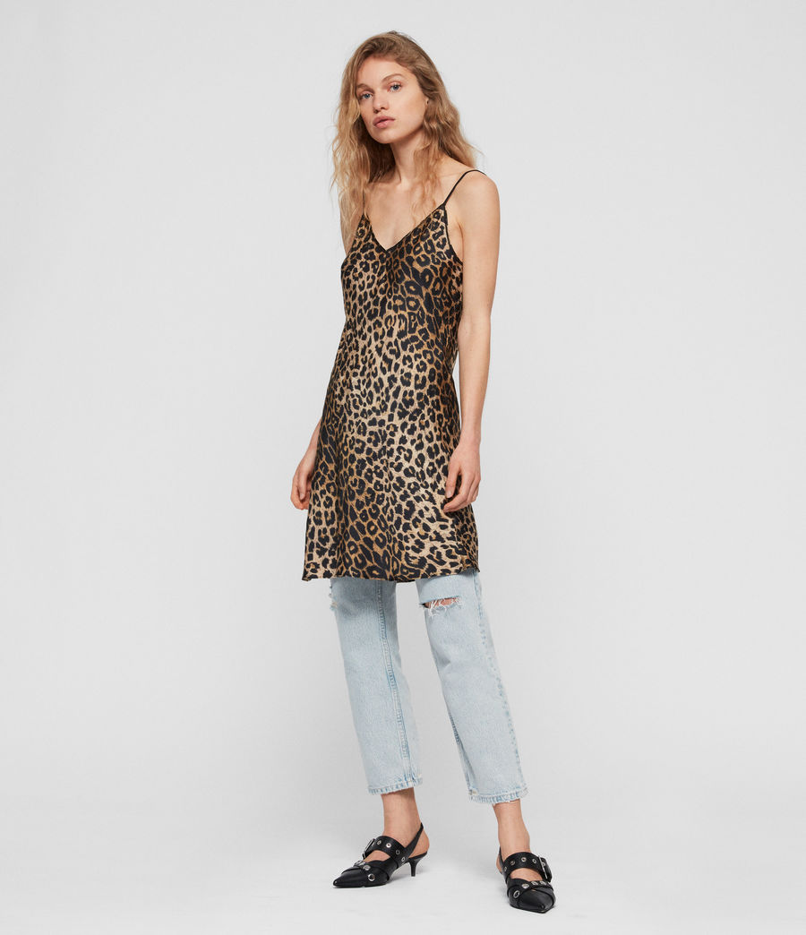 Mujer Hennie Leppo Dress (leopard_yellow) - Image 1