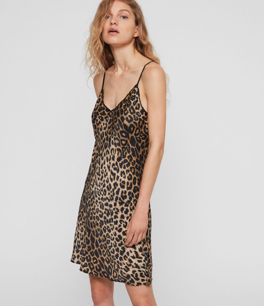 Womens Hennie Leppo Dress (leopard_yellow) - Image 2