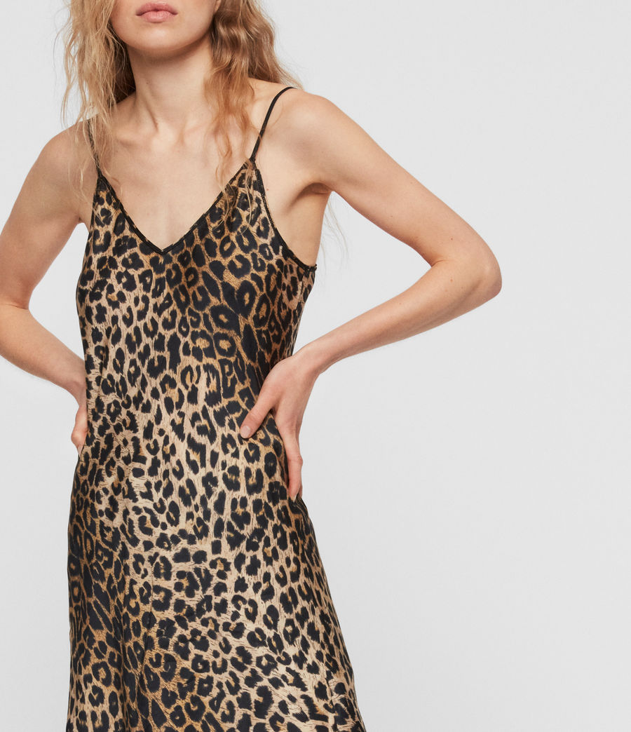 Womens Hennie Leppo Dress (leopard_yellow) - Image 3