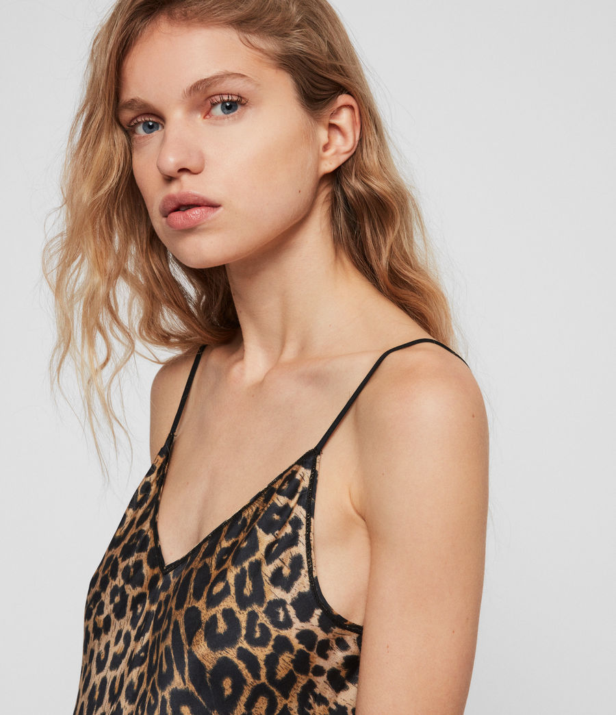 Damen Hennie Leppo Kleid (leopard_yellow) - Image 4