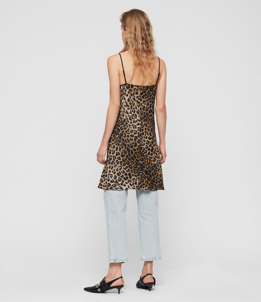 Womens Hennie Leppo Dress (leopard_yellow) - Image 5