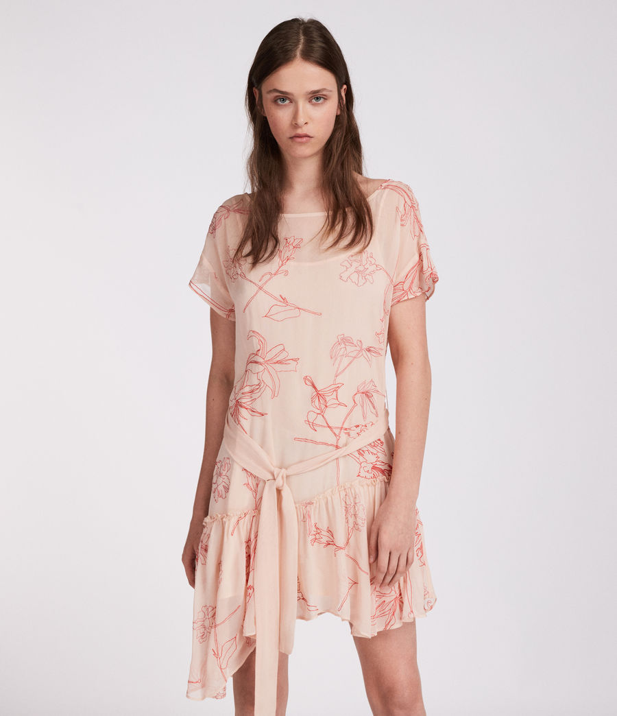 Womens Sara Verity Dress (pink_coral_red) - Image 3