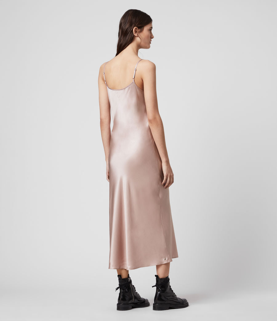 Donne Slip dress Tierney - In misto seta (dusty_pink) - Image 4