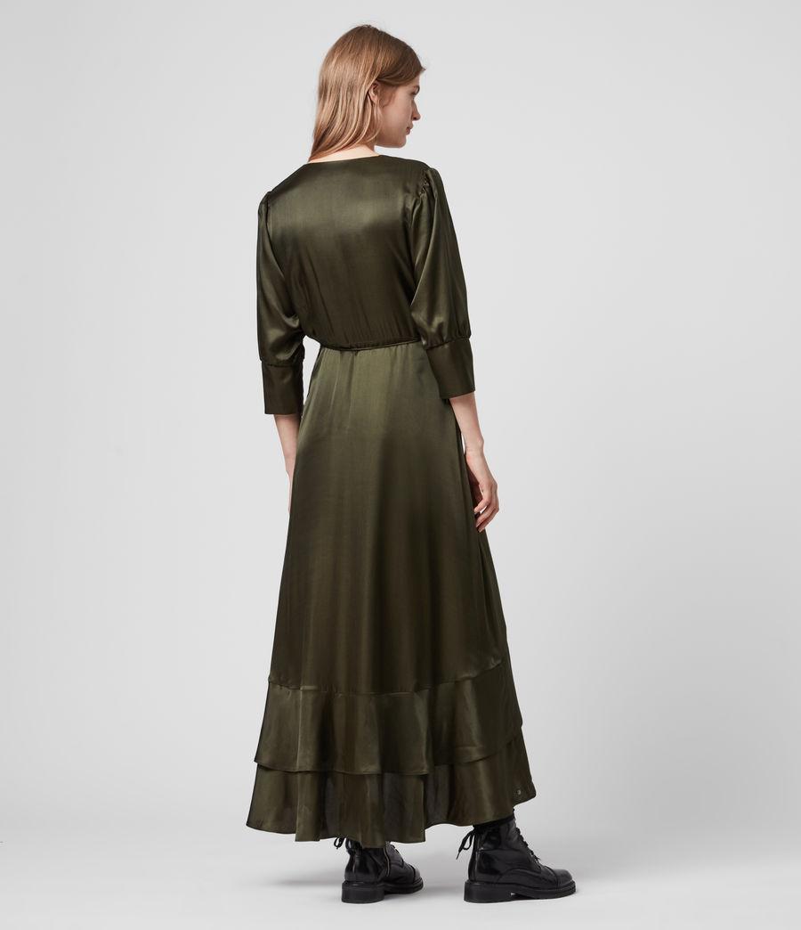 Mujer Tage Silk Blend Satin Dress (military_green) - Image 5