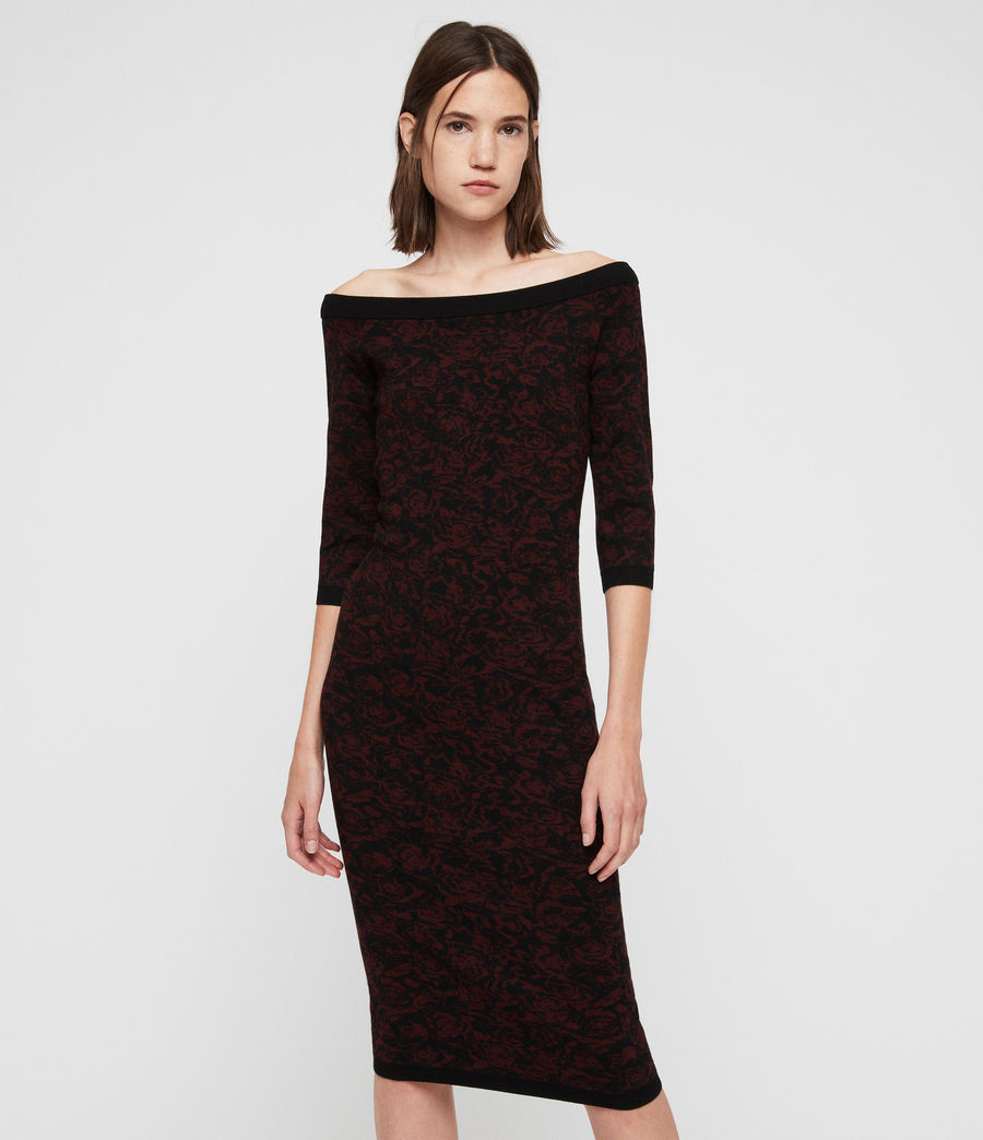 Women's Ana Rose Dress (black_bordeaux) - Image 1