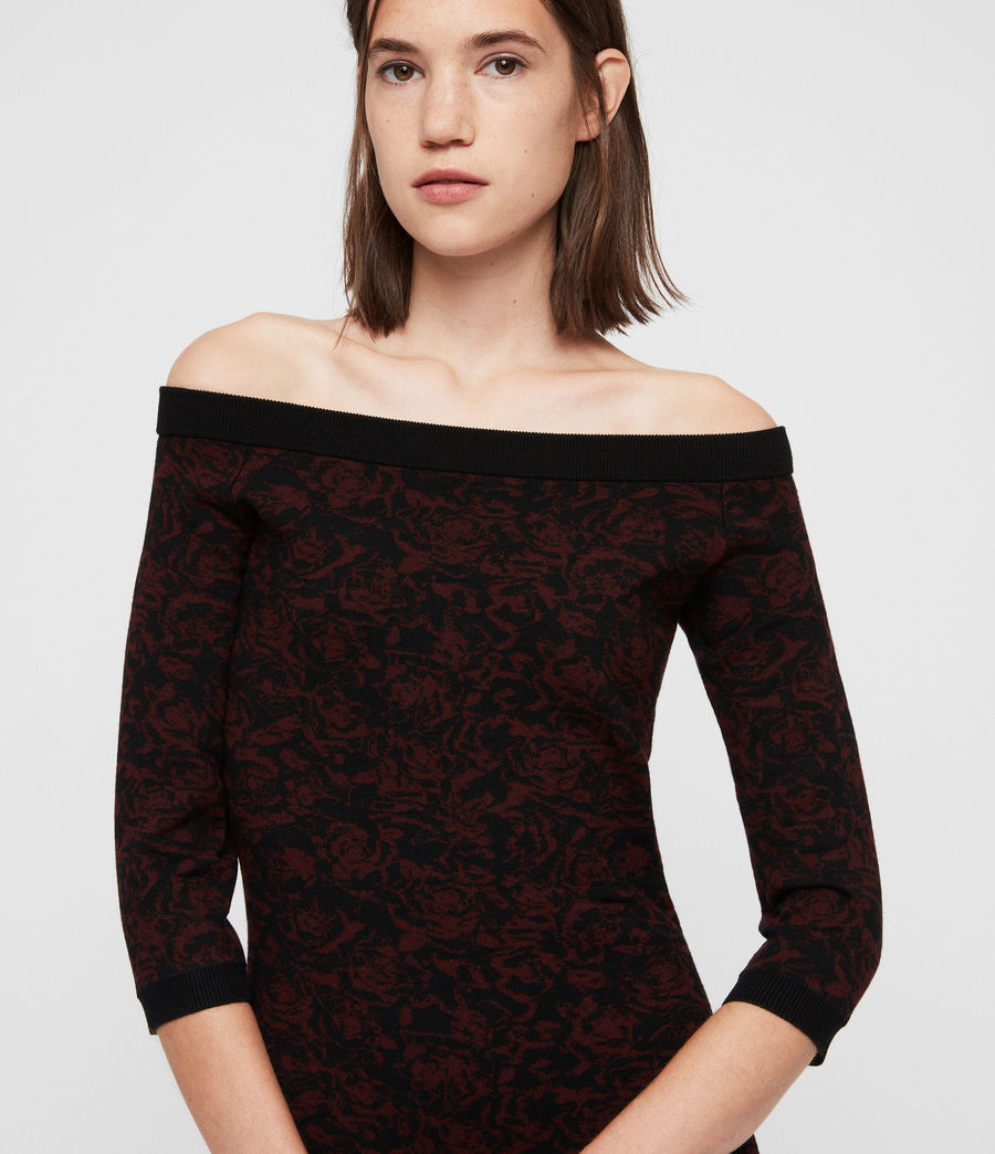 Women's Ana Rose Dress (black_bordeaux) - Image 2