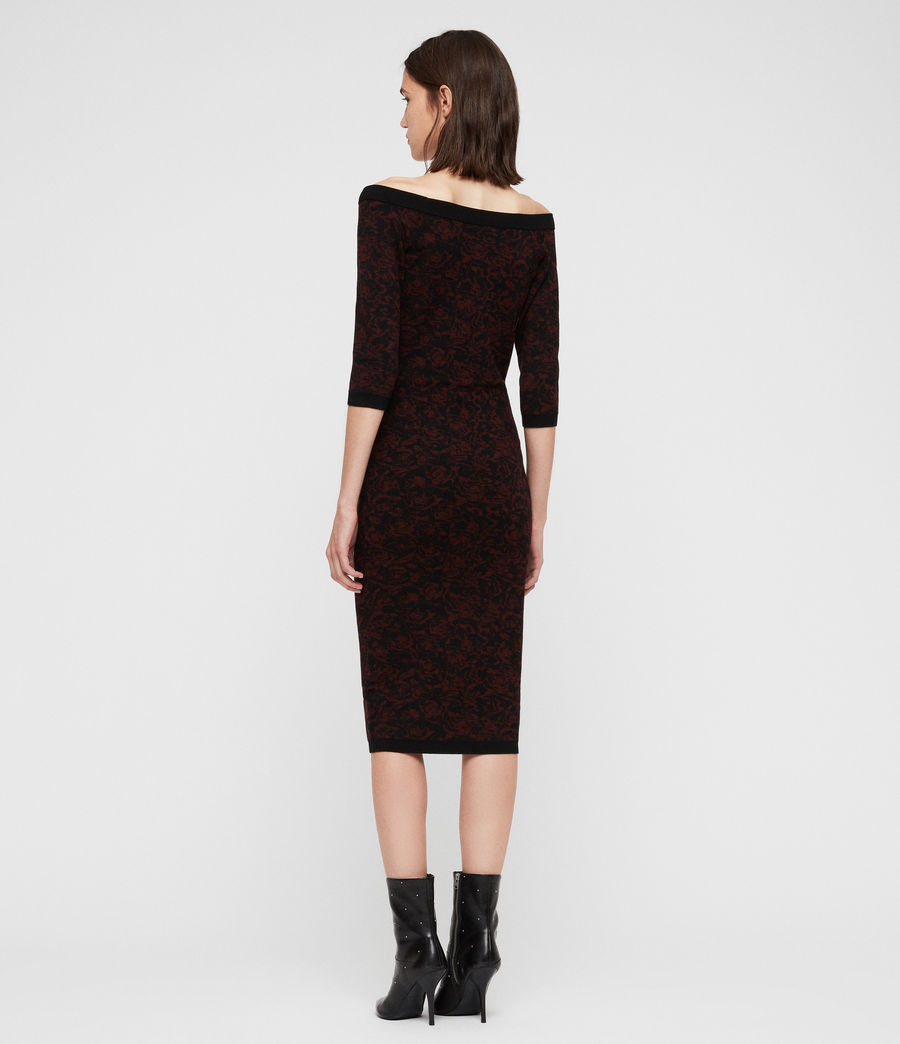 Women's Ana Rose Dress (black_bordeaux) - Image 5