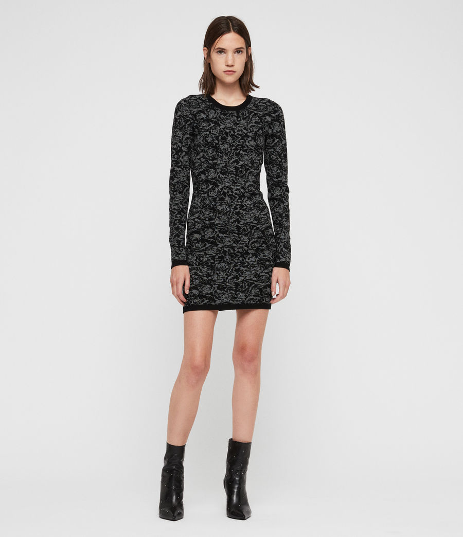Mujer Lex Rose Dress (black_grey_marl) - Image 1