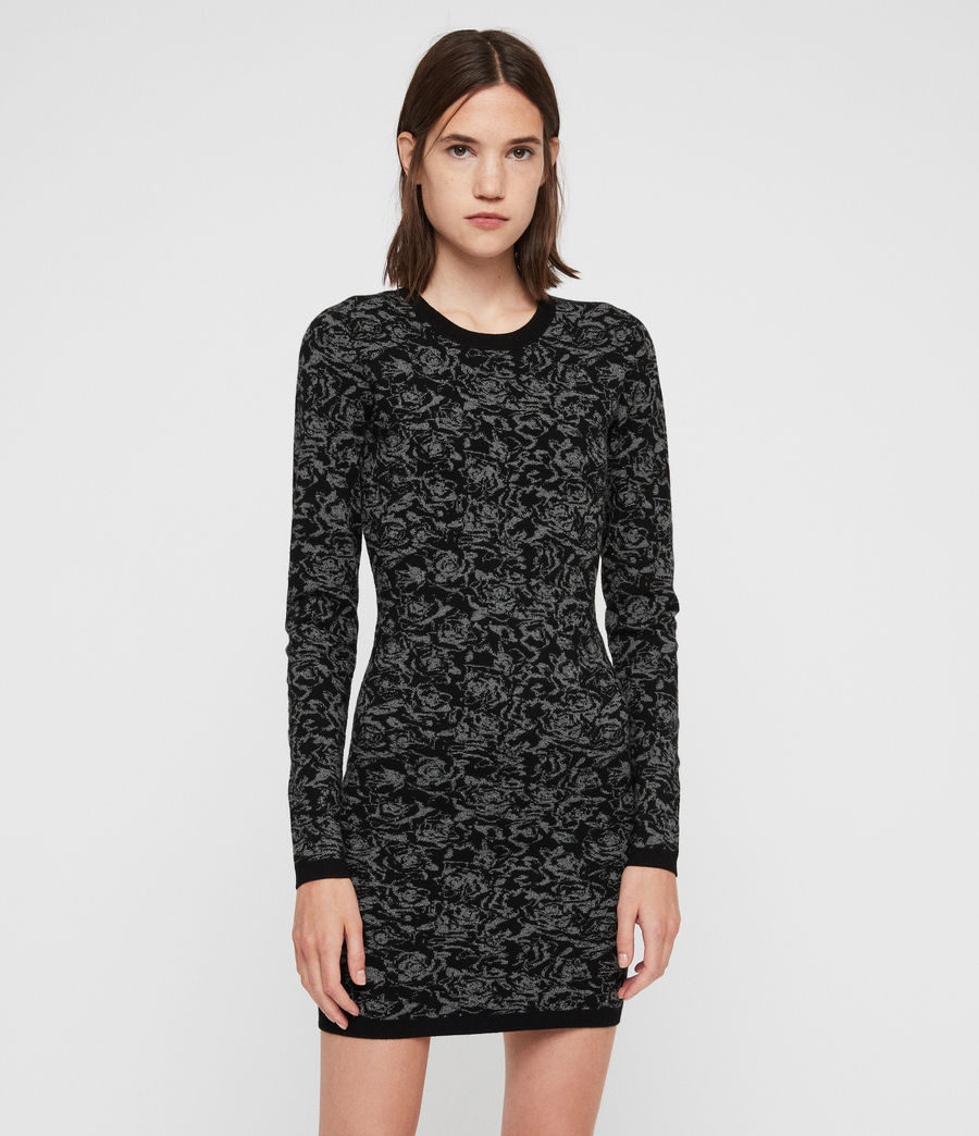 Mujer Lex Rose Dress (black_grey_marl) - Image 3
