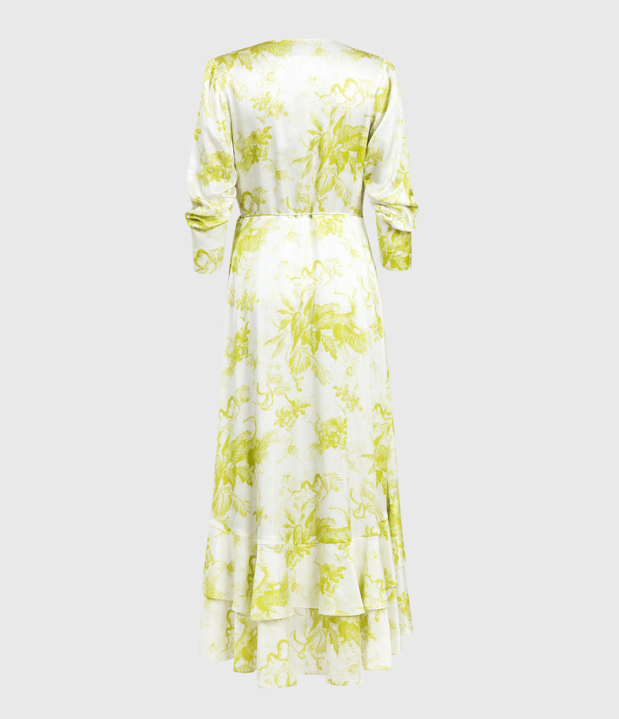 Womens Tage Riyaz Silk Blend Dress (chartreuse_yellow) - Image 2