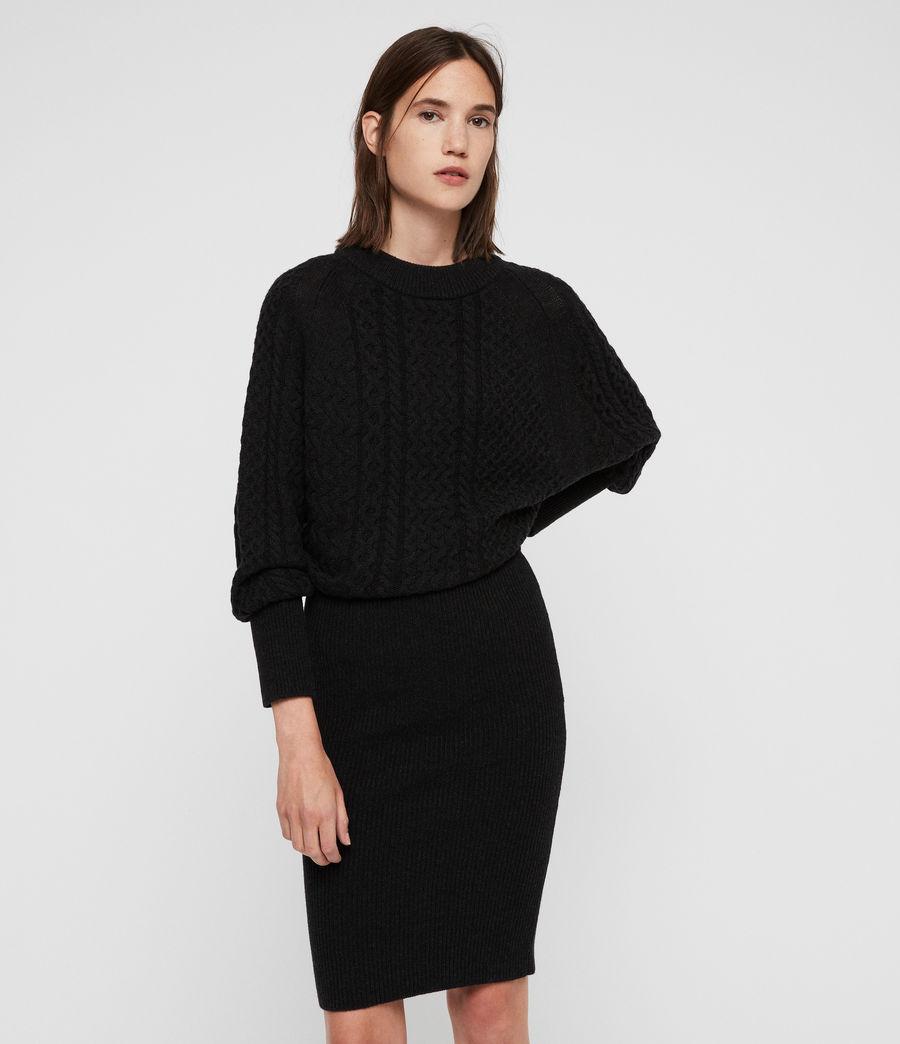Womens Dilone Dress (cinder_black_marl) - Image 1