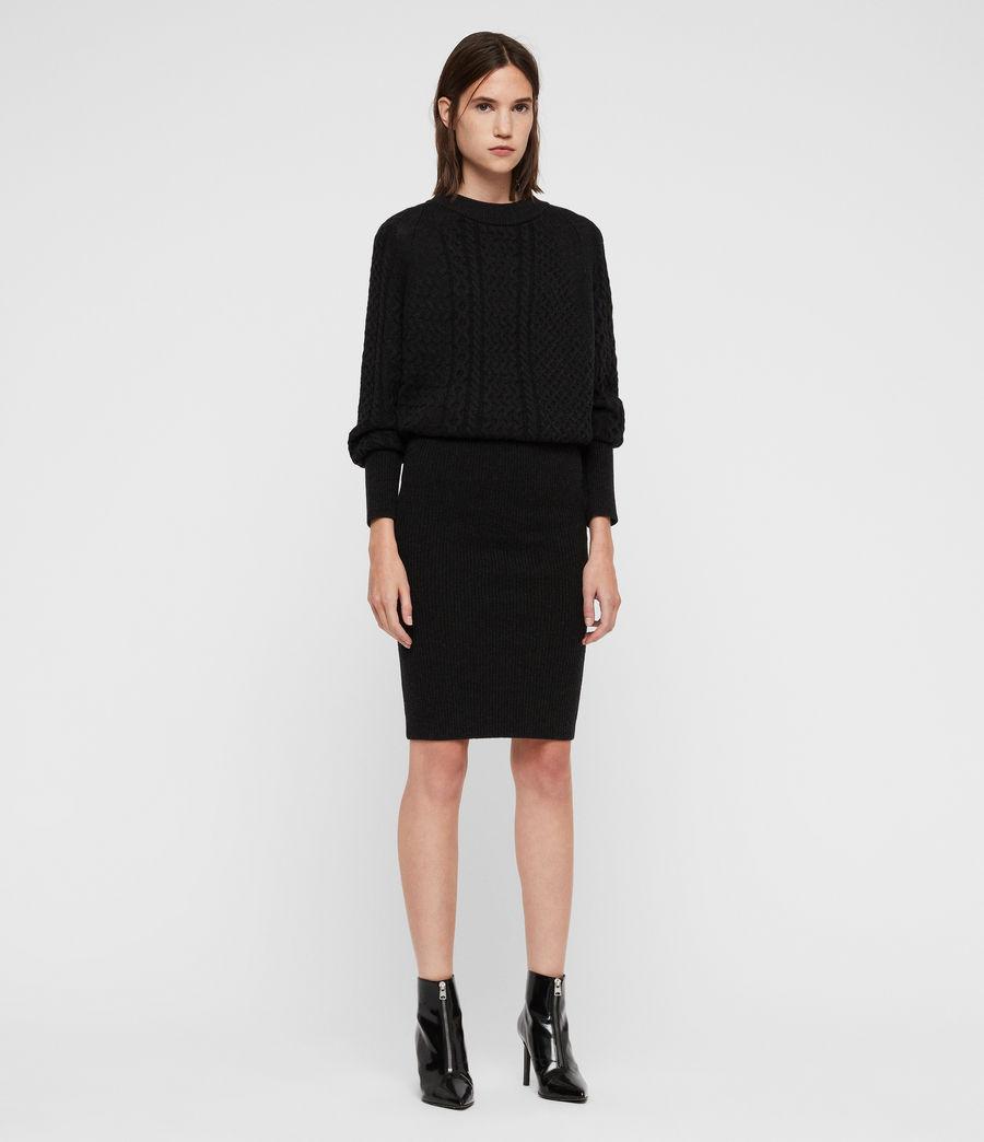 Womens Dilone Dress (cinder_black_marl) - Image 3