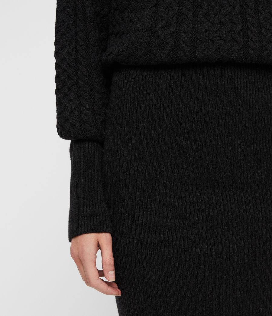 Womens Dilone Dress (cinder_black_marl) - Image 5