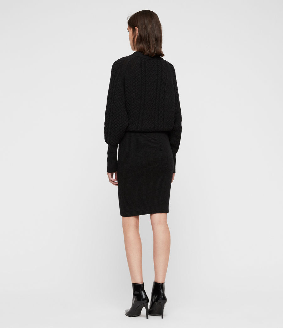Womens Dilone Dress (cinder_black_marl) - Image 6