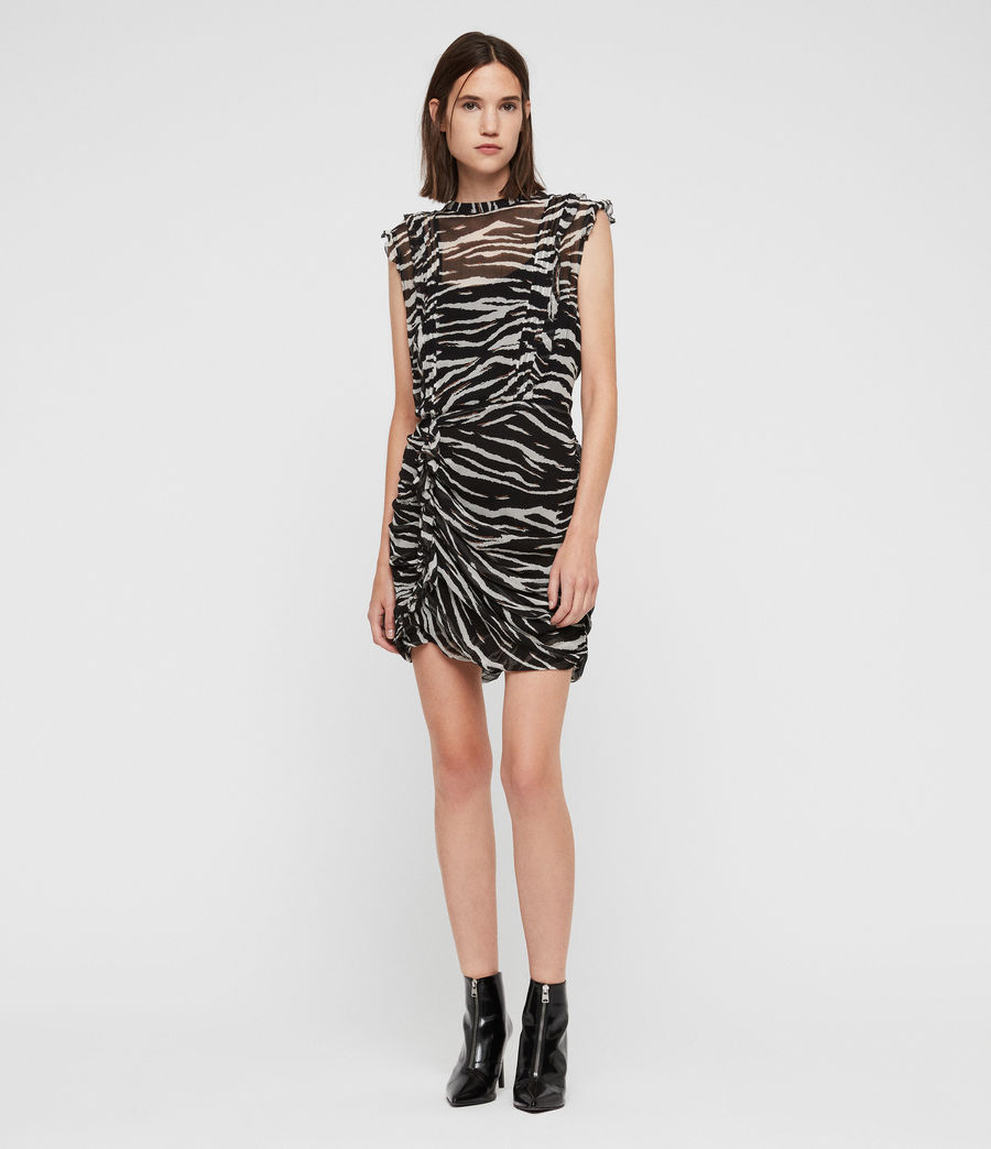 Mujer Hali Tiger Dress (black_chalk) - Image 3