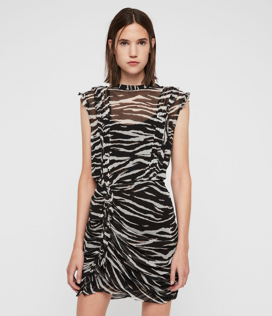 Mujer Hali Tiger Dress (black_chalk) - Image 4