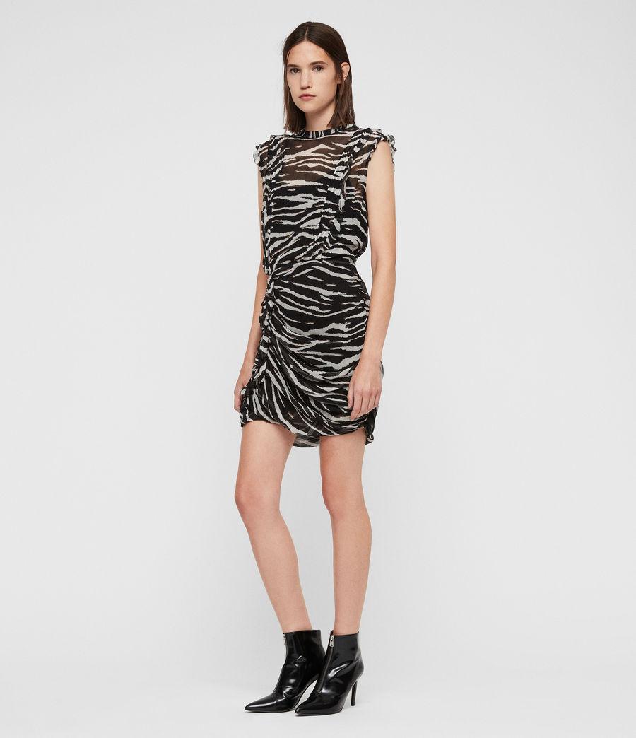 Women's Hali Tiger Dress (black_chalk_white) - Image 1