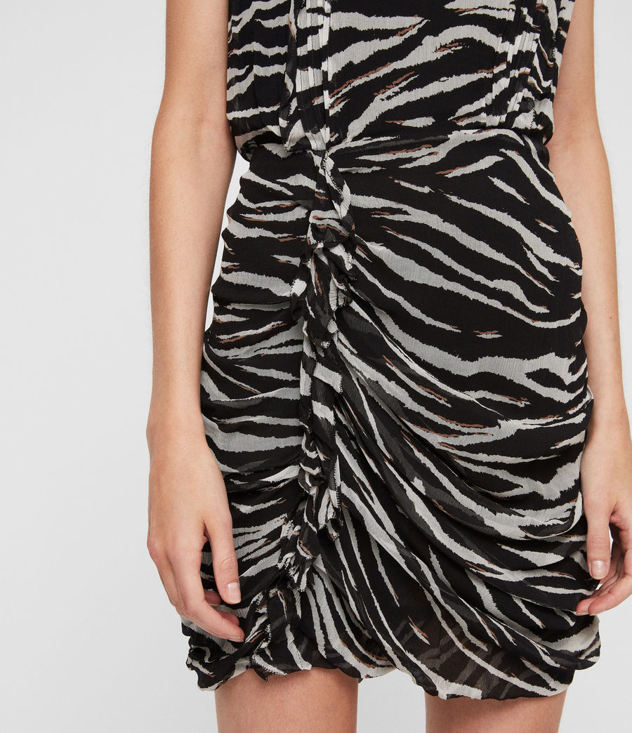 Women's Hali Tiger Dress (black_chalk_white) - Image 2