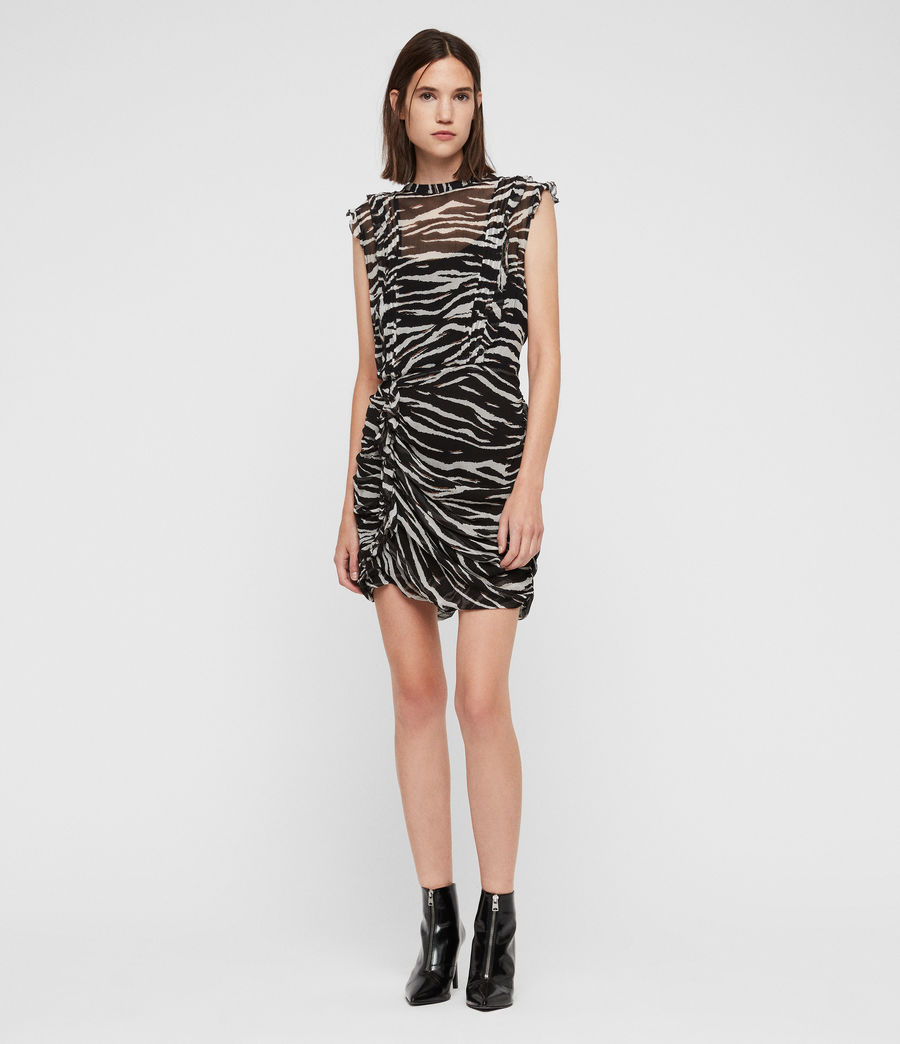 Women's Hali Tiger Dress (black_chalk_white) - Image 3